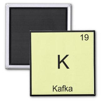 K - Camiseta divertida del símbolo del elemento de Imán Cuadrado
