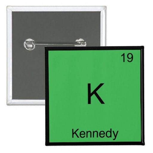 K - Camiseta divertida del símbolo del elemento de Pin Cuadrada 5 Cm
