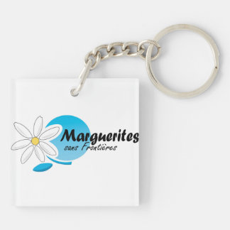K-Chaine, Marguerites sans frontieres Double-Sided Square Acrylic Keychain