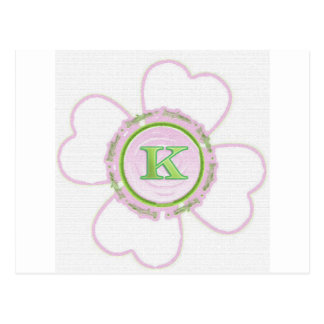 K clover - pink and pretty postcard