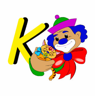 K Clown Cutout