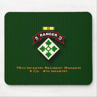 K Co, 75th Infantry - Ranger - 4th Inf - Vietnam Mouse Pad