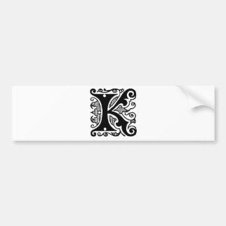 K Design Bumper Sticker