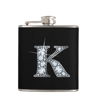 """K """"Diamond Bling"""" Flask"""