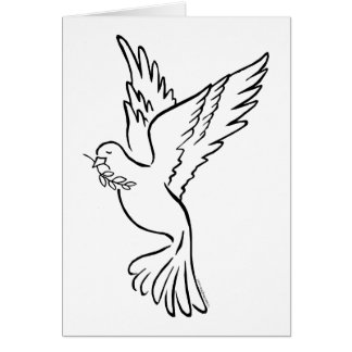 K - Dove of Peace Greeting Card