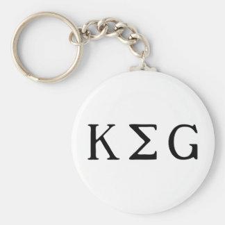K E G BASIC ROUND BUTTON KEYCHAIN