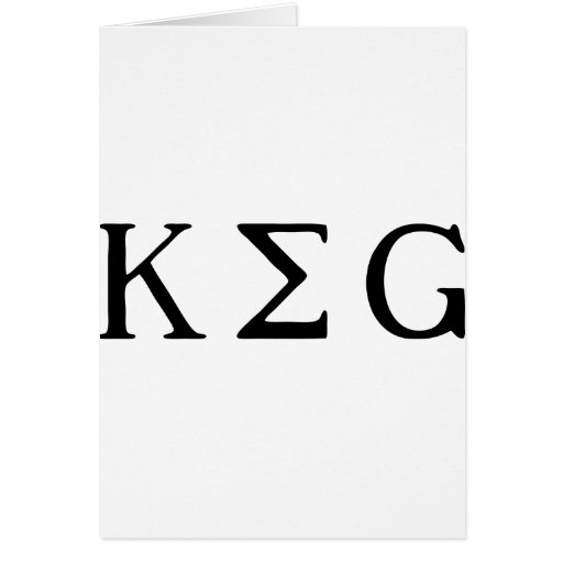 K E G CARD