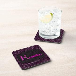 K - El alfabeto de Falck (rosa) Posavasos De Bebida