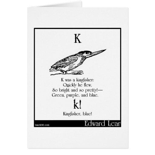 K era un martín pescador tarjeta de felicitación