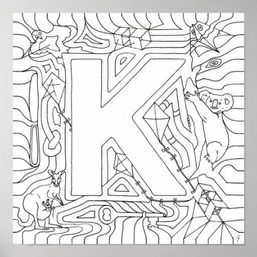 K está para el color de las cometas en letra póster