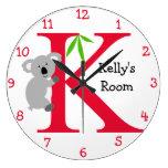 K está para el dormitorio de la koala y de los Kel Relojes