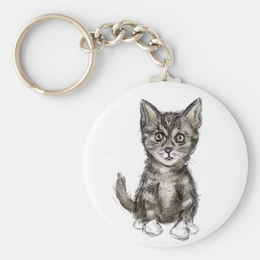 K está para el gatito llavero redondo tipo pin