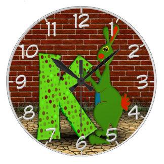 K está para el reloj de pared del canguro