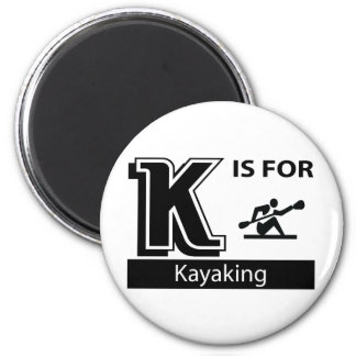 K está para Kayaking Imán Redondo 5 Cm