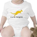 K está para la camiseta del canguro