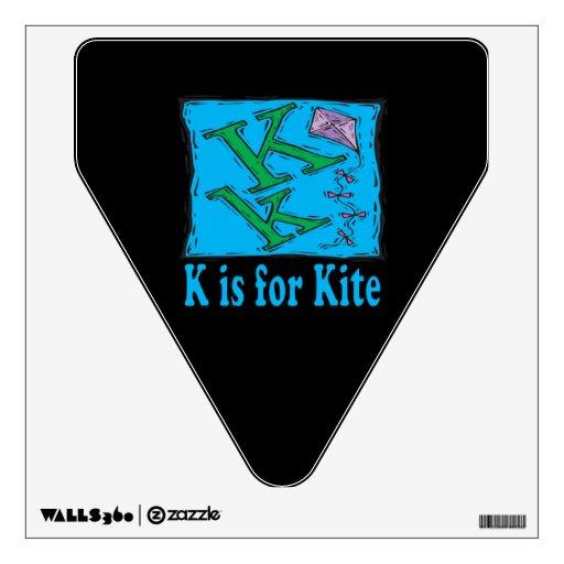 K está para la cometa 3 vinilo decorativo