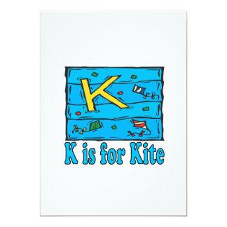 """K está para la cometa 4 invitación 5"""" x 7"""""""