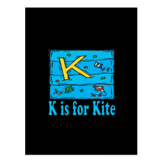 K está para la cometa 4 postal