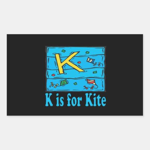 K está para la cometa 4 rectangular altavoces