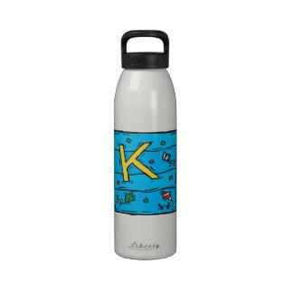 K está para la cometa botella de beber