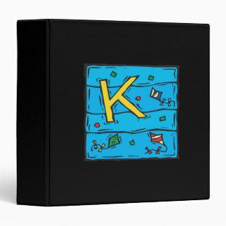 "K está para la cometa carpeta 1 1/2"""