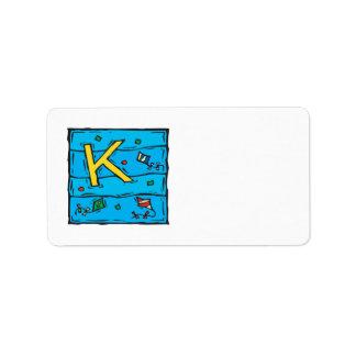K está para la cometa etiquetas de dirección
