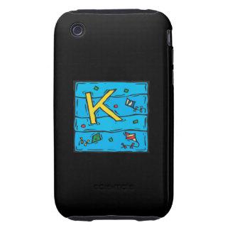 K está para la cometa iPhone 3 tough coberturas