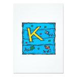 K está para la cometa invitación 12,7 x 17,8 cm