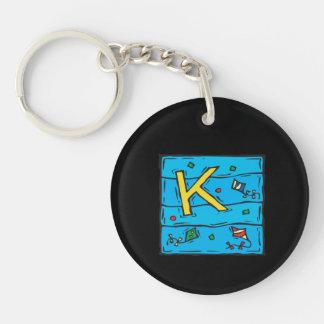 K está para la cometa llaveros