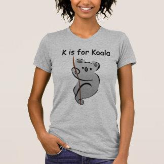 K está para la koala camisetas