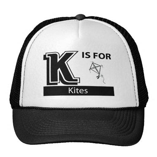 K está para las cometas gorro de camionero