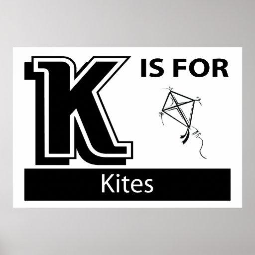 K está para las cometas posters