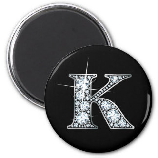 """""""K"""" Faux-""""Diamond Bling"""" Magnet"""