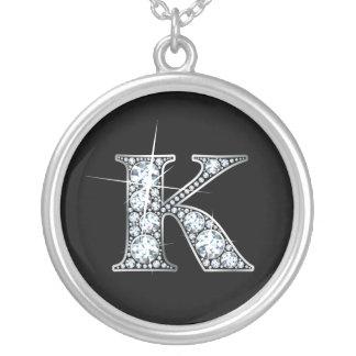"""K"" Faux-""Diamond Bling"" Necklace"