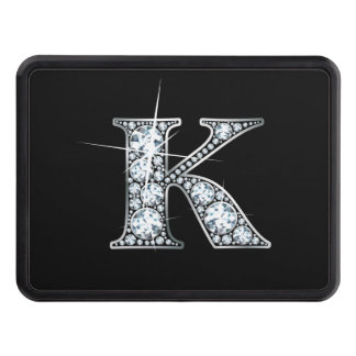"K Faux-""Diamond Bling"" Trailer Hitch Cover"