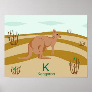 K for kangaroo Poster