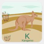 K for kangaroo Sticker