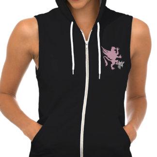 K. Griffin Women's Sleeveless Zip Hoodie