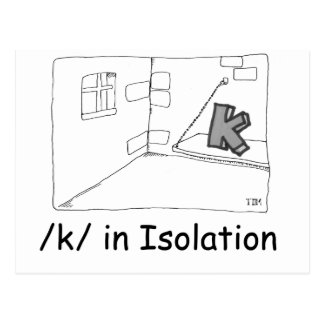 K In Isolation Postcard