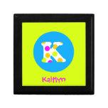 K Initial  Personalized Name Girls Jewelry Box