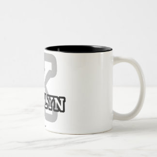 K is for Kaitlyn Two-Tone Coffee Mug