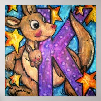 K is for Kangaroo Poster