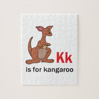 K IS FOR KANGAROO JIGSAW PUZZLE