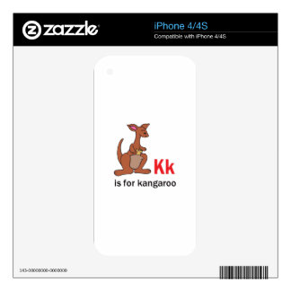 K IS FOR KANGAROO SKIN FOR THE iPhone 4