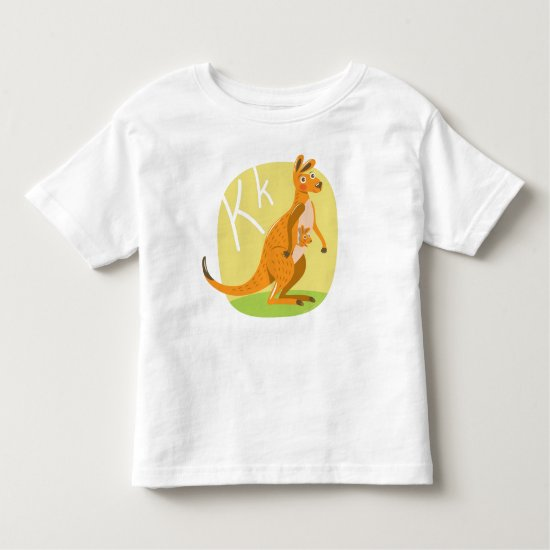 """K"" is for Kangaroo! Toddler T-shirt"