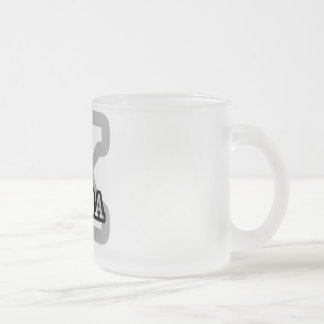 K is for Keira 10 Oz Frosted Glass Coffee Mug