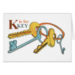 'K' is for Keys Greeting Card
