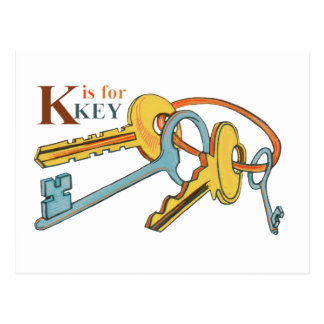 'K' is for Keys Postcard