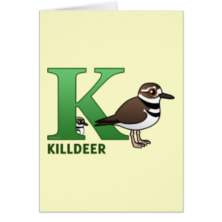 K is for Killdeer Card