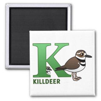 K is for Killdeer Magnet